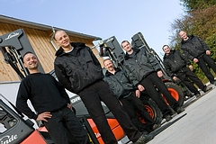 The team of WMS employees - The crew of our fork lift fleet | Photo: Herbert Heim